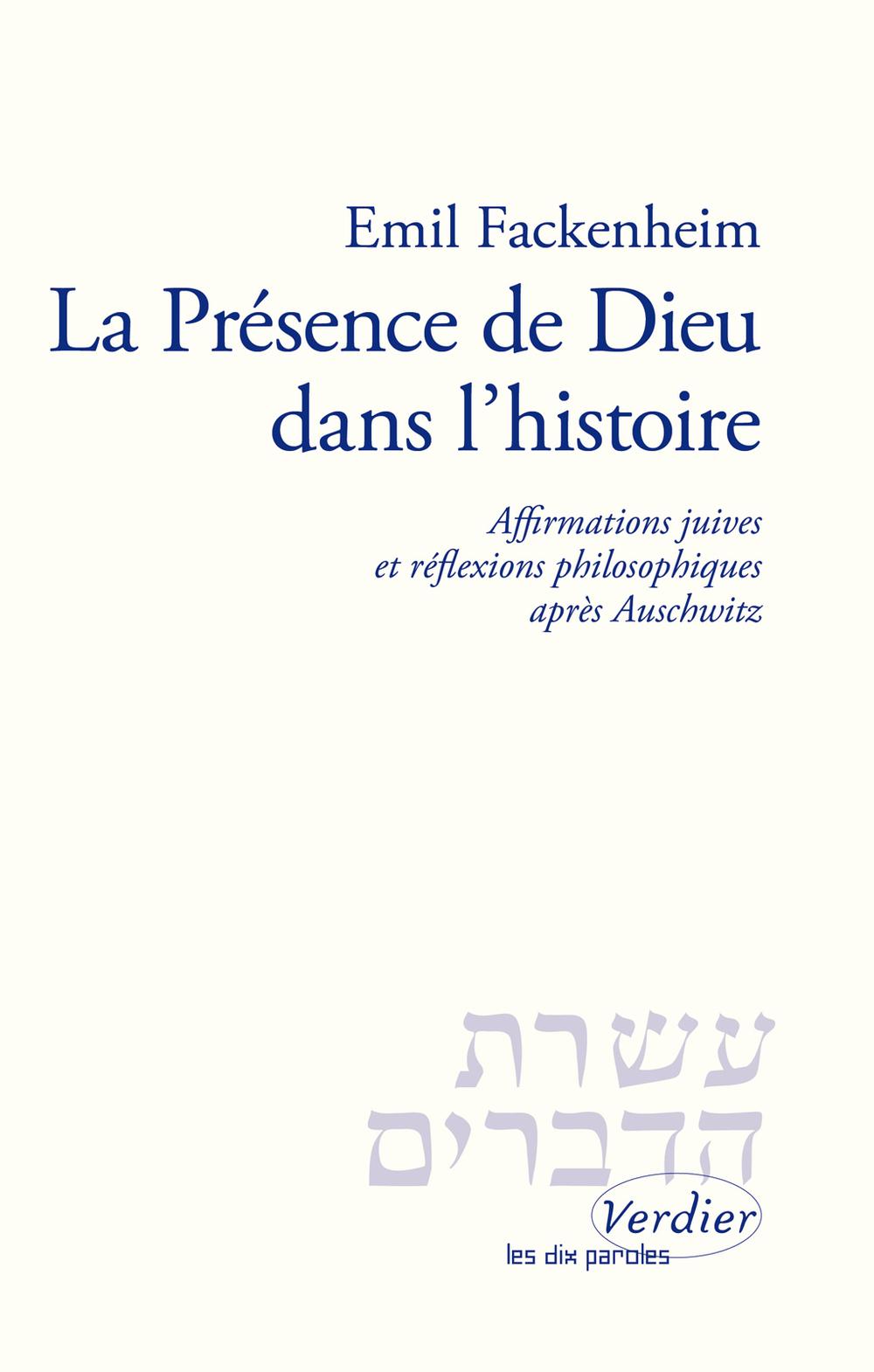 La présence de Dieu dans l'histoire