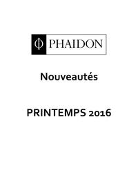 Nouveautés PHAIDON - Printe...