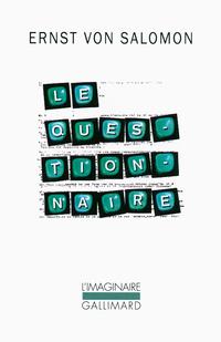 Le questionnaire | Salomon, Ernst von