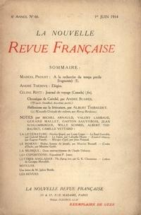 La Nouvelle Revue Française N' 66 (Juin 1914)