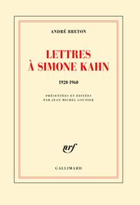 Lettres à Simone Kahn (1920-1960) |