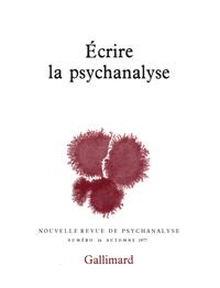 Écrire la psychanalyse