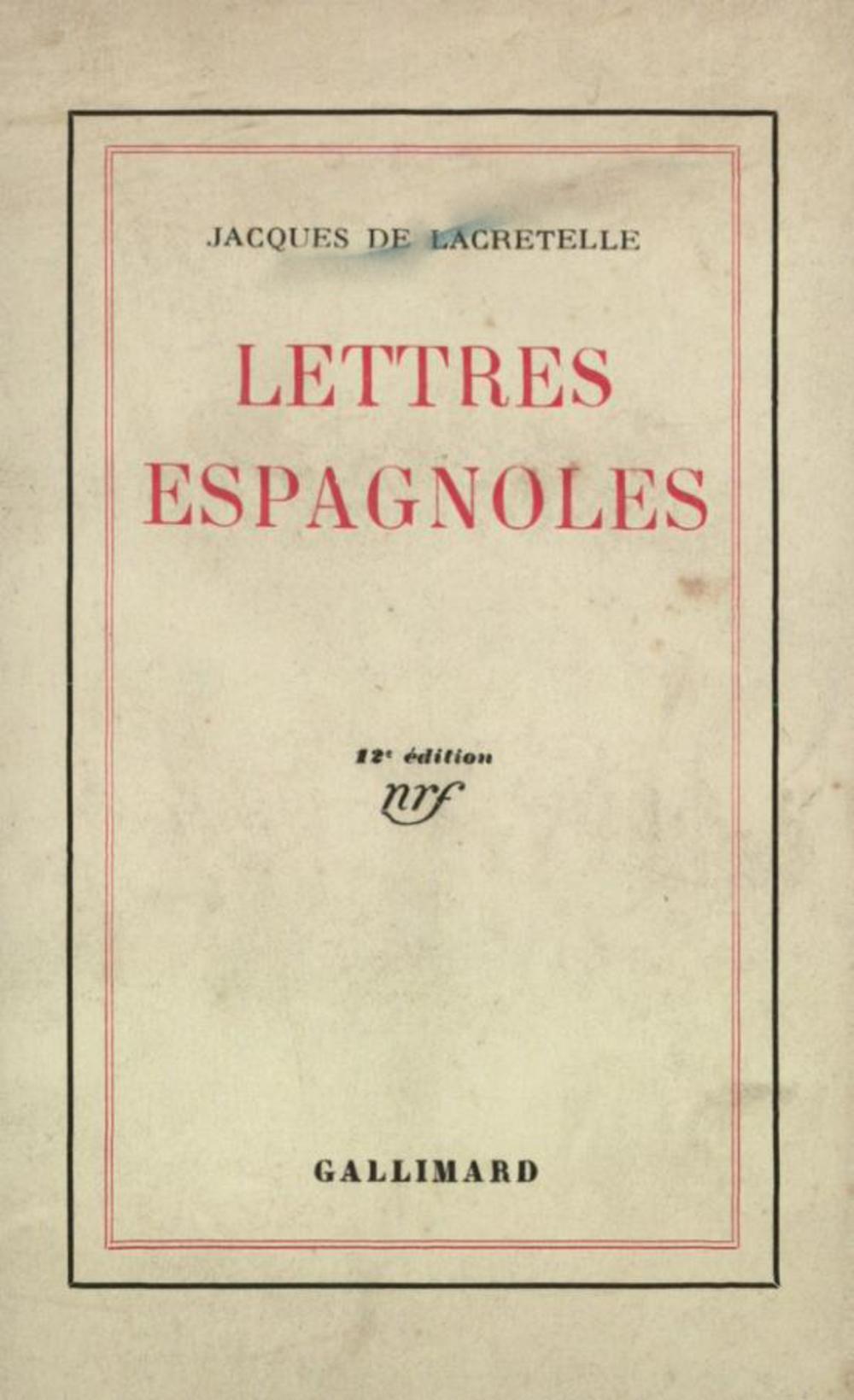 Lettres espagnoles