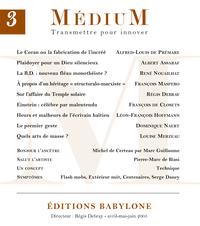 Médium n°3, avril-juin 2005