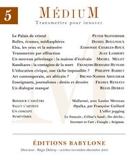 Médium n°5, octobre-décembr...