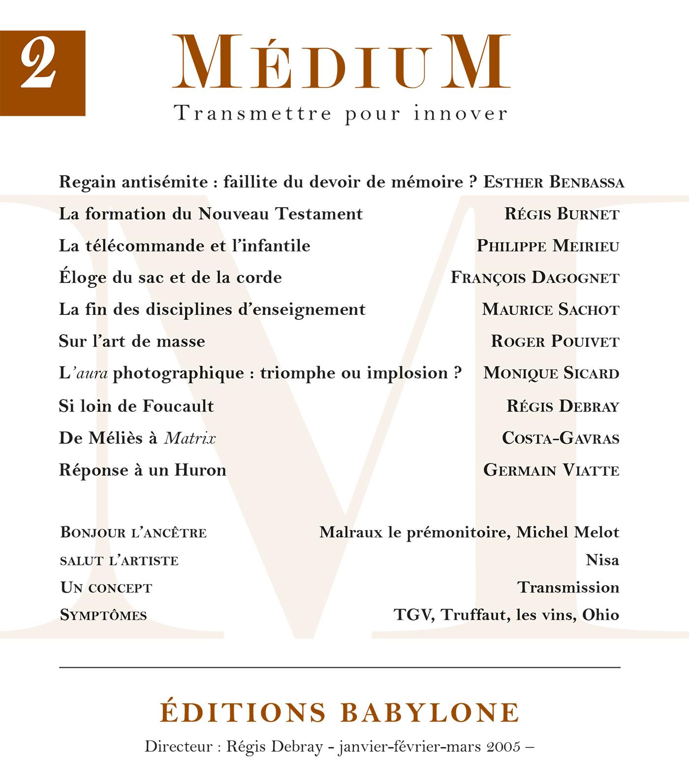 Médium n°2, janvier-mars 2005