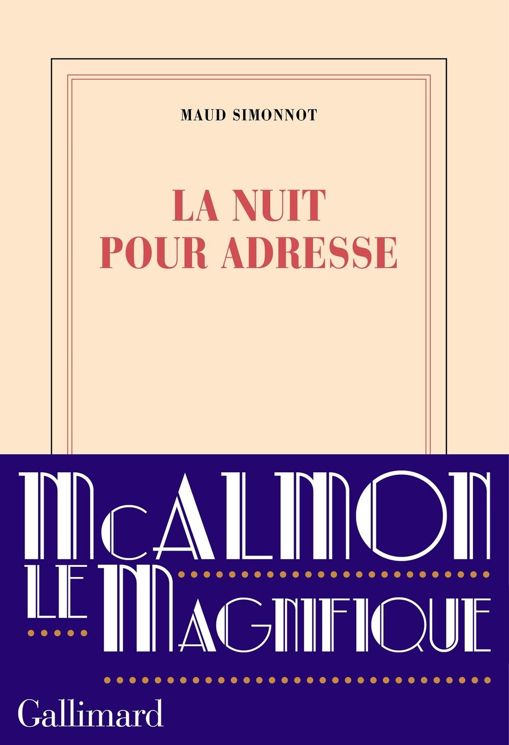 La nuit pour adresse   Simonnot, Maud