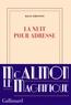 La nuit pour adresse | Simonnot, Maud