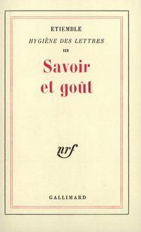 Savoir et goűt