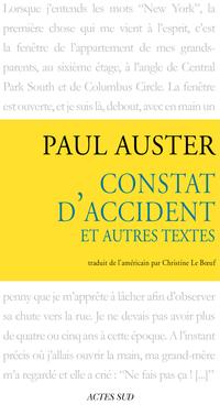 Constat d'accident et autres textes