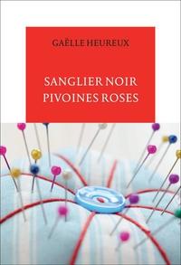 Sanglier noir, pivoines roses