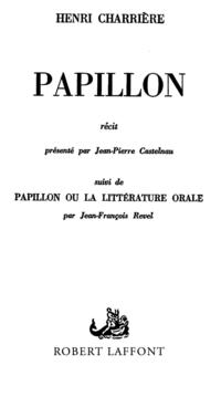Papillon | CHARRIERE, Henri