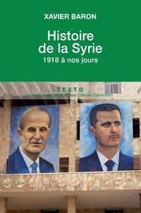 Histoire de la Syrie. 1918 à nos jours