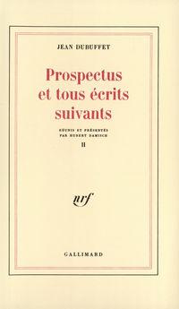 Prospectus et tous écrits s...