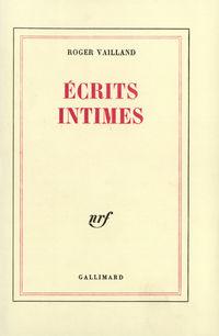 Écrits intimes
