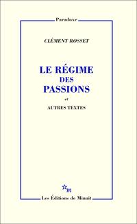 Le Régime des passions et a...