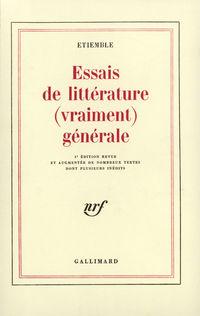 Essais de littérature (vrai...