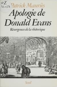 Apologie de Donald Evans