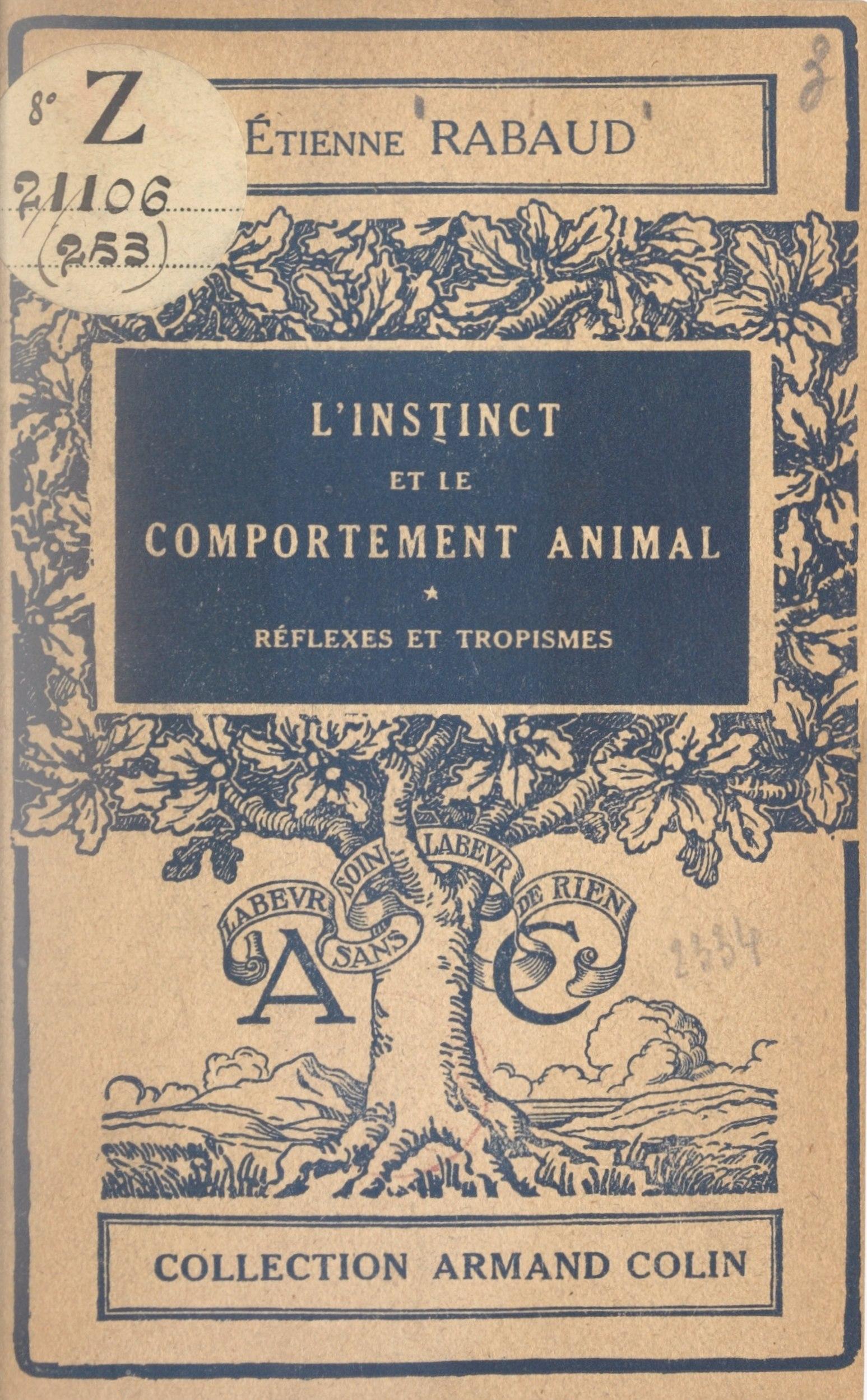 L'instinct et le comportement animal (1)