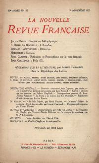 La Nouvelle Revue Française N' 146 (Novembre 1925)