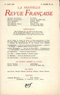 La Nouvelle Revue Française N' 78 (Juin 1959)