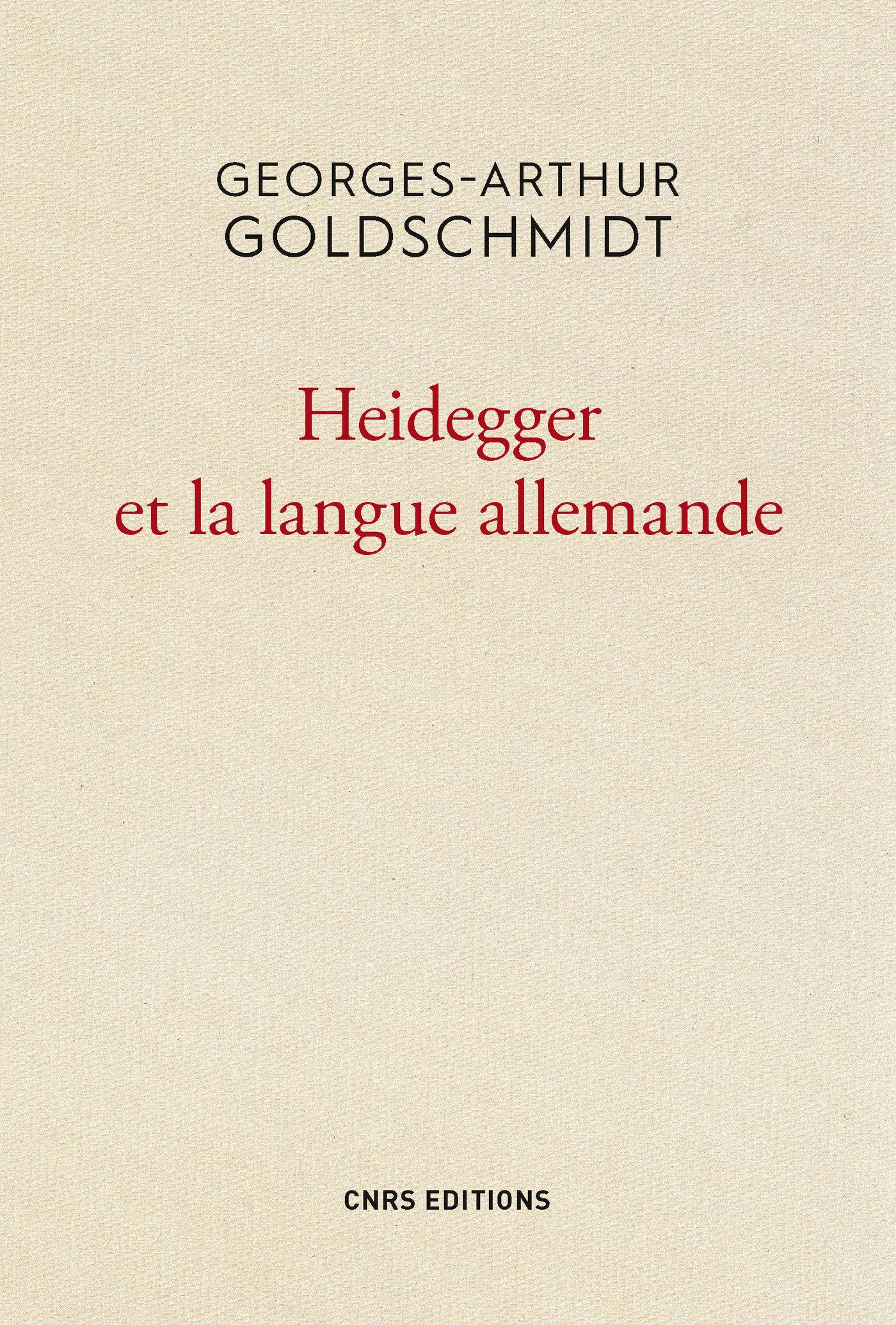 Heidegger et la langue alle...