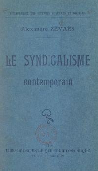 Le syndicalisme contemporain