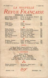 Hommage ŕ Goethe N° 222 (Mars 1932)