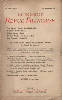La Nouvelle Revue Française N' 147 (Décembre 1925)
