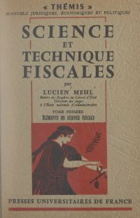 Science et technique fiscal...
