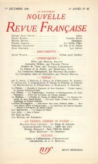 La Nouvelle Nouvelle Revue Française N' 48 (Décembre 1956)