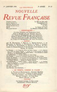 La Nouvelle Nouvelle Revue Française N' 13 (Janvier 1954)