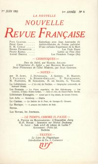 La Nouvelle Nouvelle Revue Française N' 6 (Juin 1953)