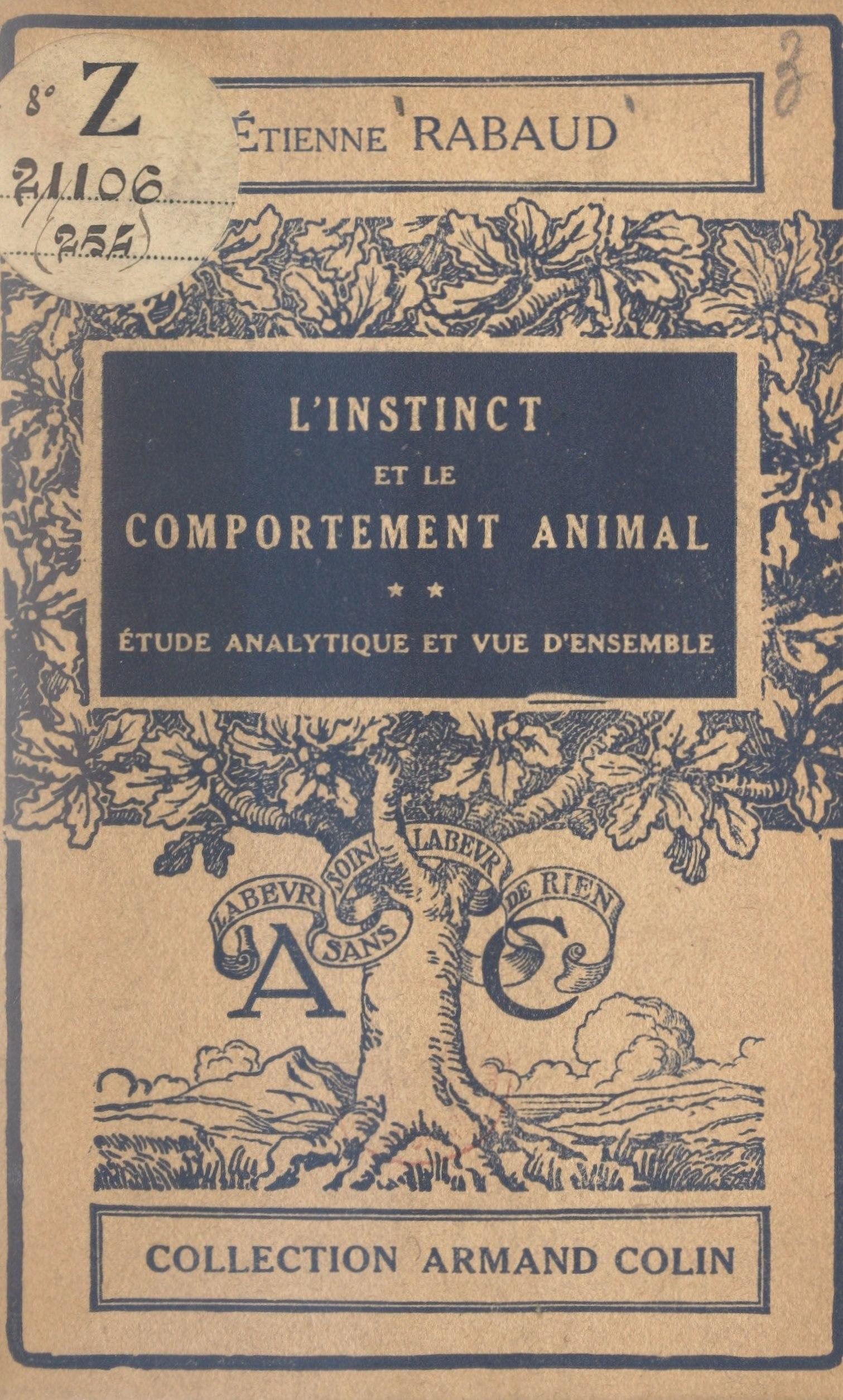 L'instinct et le comportement animal (2)