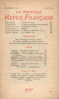 La Nouvelle Revue Française N° 294 (Mars 1938)