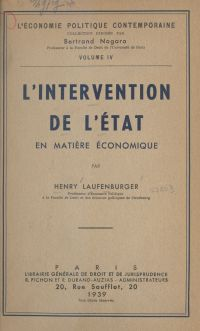 L'intervention de l'État en...