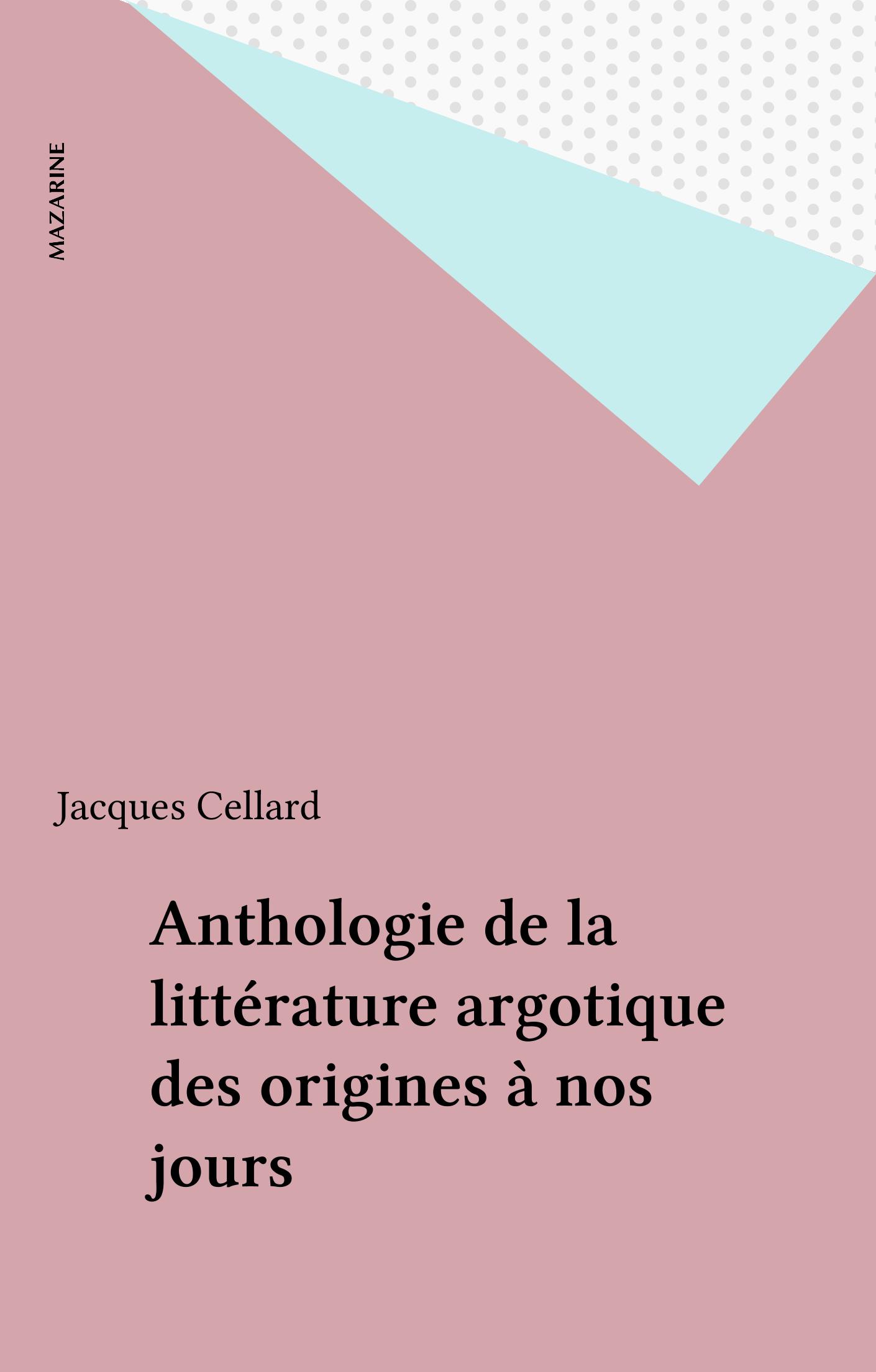 Anthologie de la littératur...