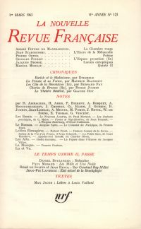 La Nouvelle Revue Française N' 123 (Mars 1963)