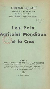 Les prix agricoles mondiaux...