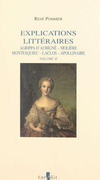 Explications littéraires (2...