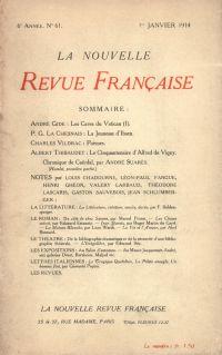 La Nouvelle Revue Française N' 61 (Janvier 1914)
