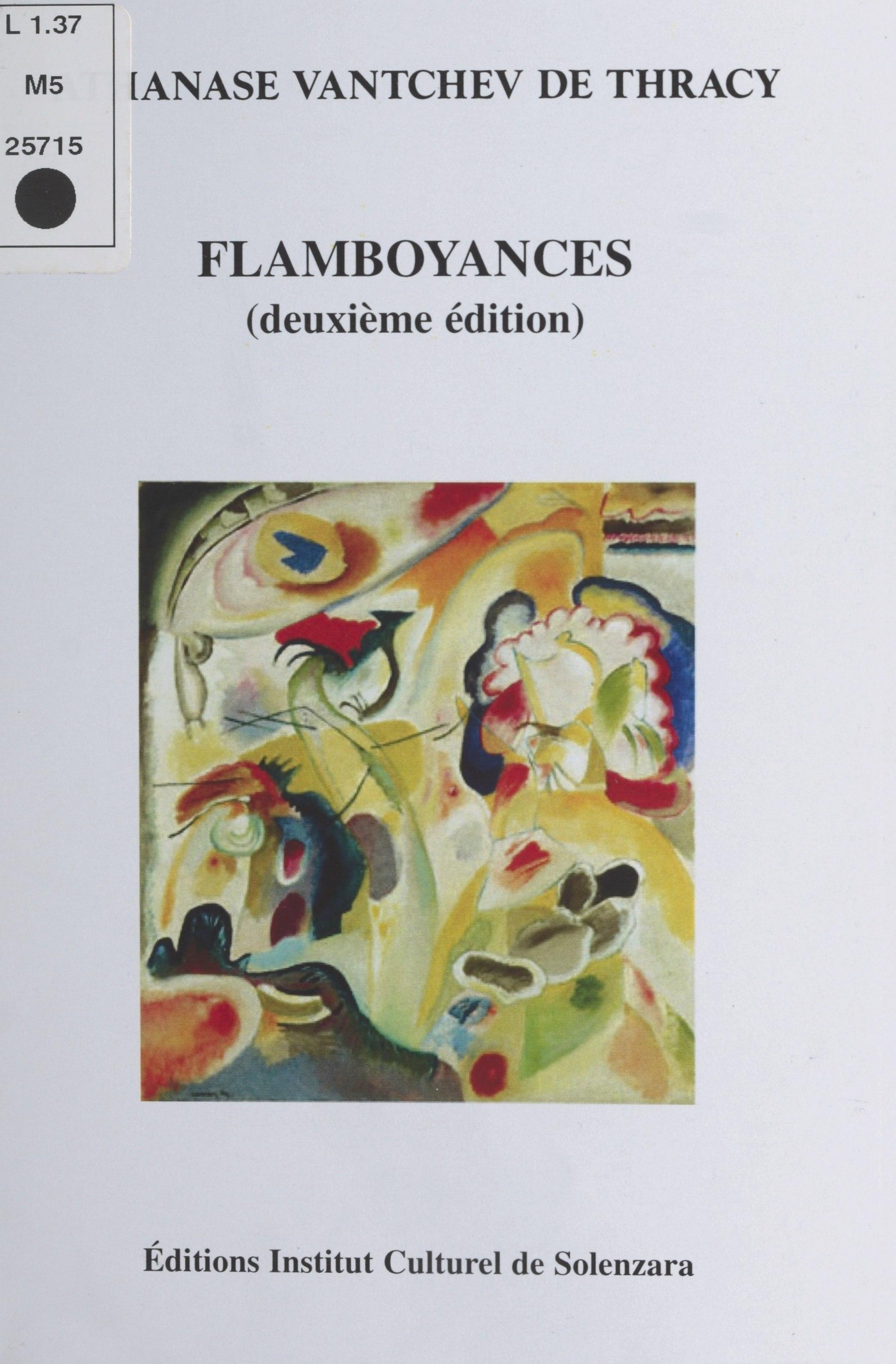 Flamboyances Éd. Institut c...