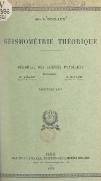 Séismométrie théorique