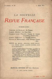 La Nouvelle Revue Française N' 29 (Mai 1911)