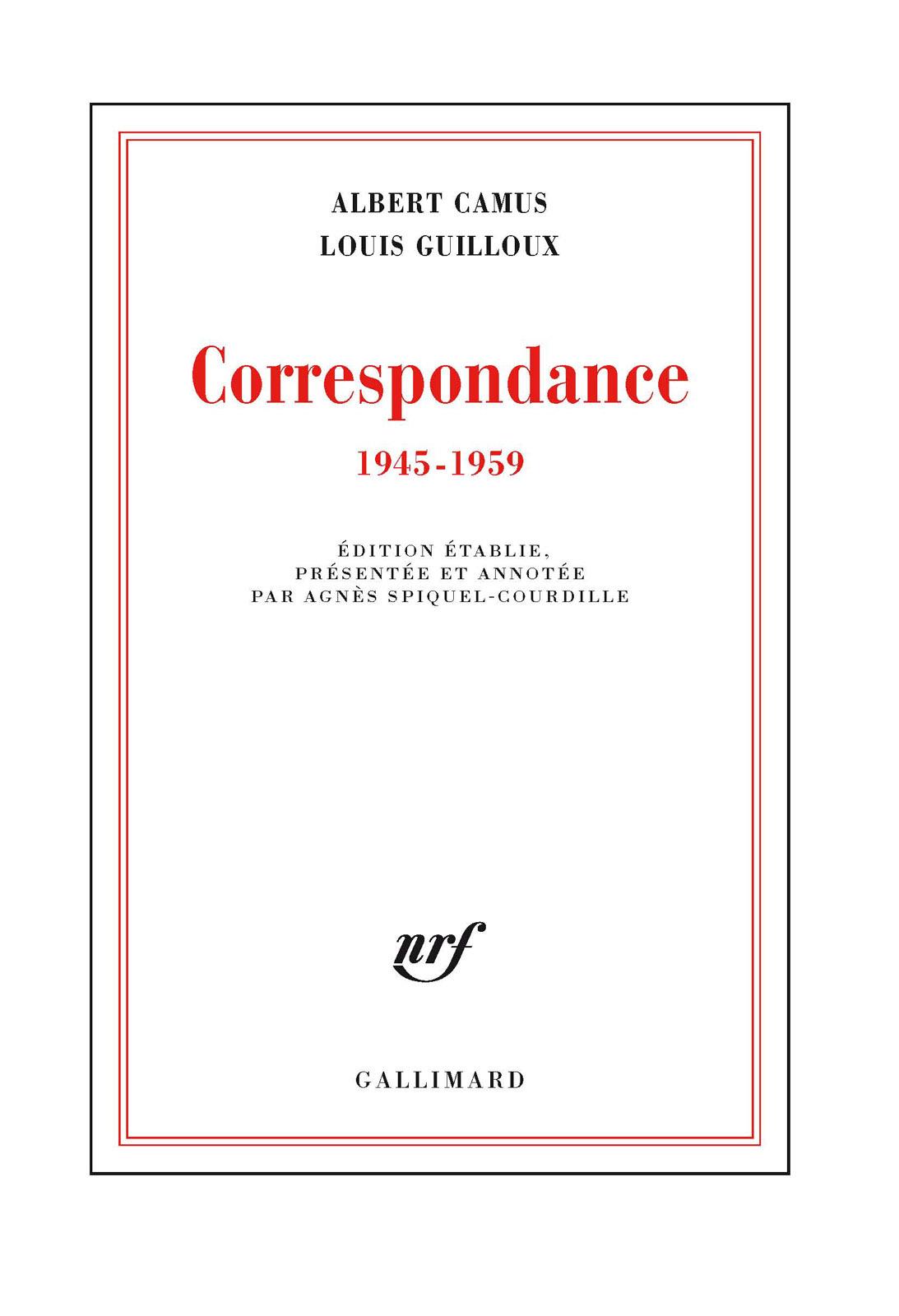 Correspondance (1945-1959)