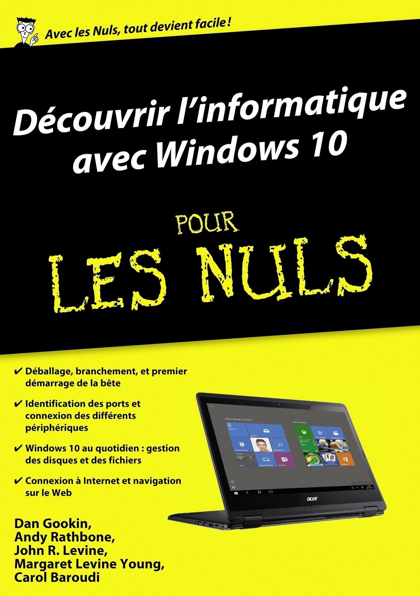 Découvrir l'ordinateur avec Windows 10 Pour les Nuls