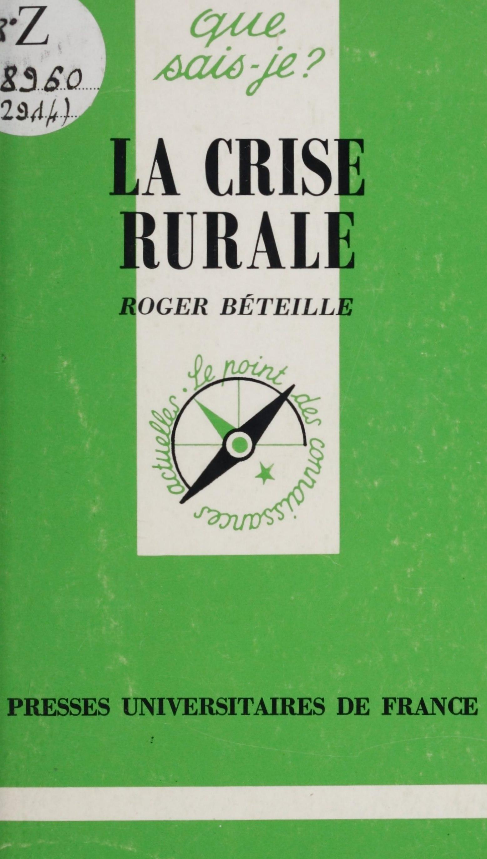 La crise rurale