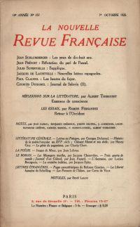 La Nouvelle Revue Française N' 157 (Octobre 1926)