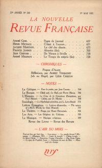 La Nouvelle Revue Française N° 260 (Mai 1935)