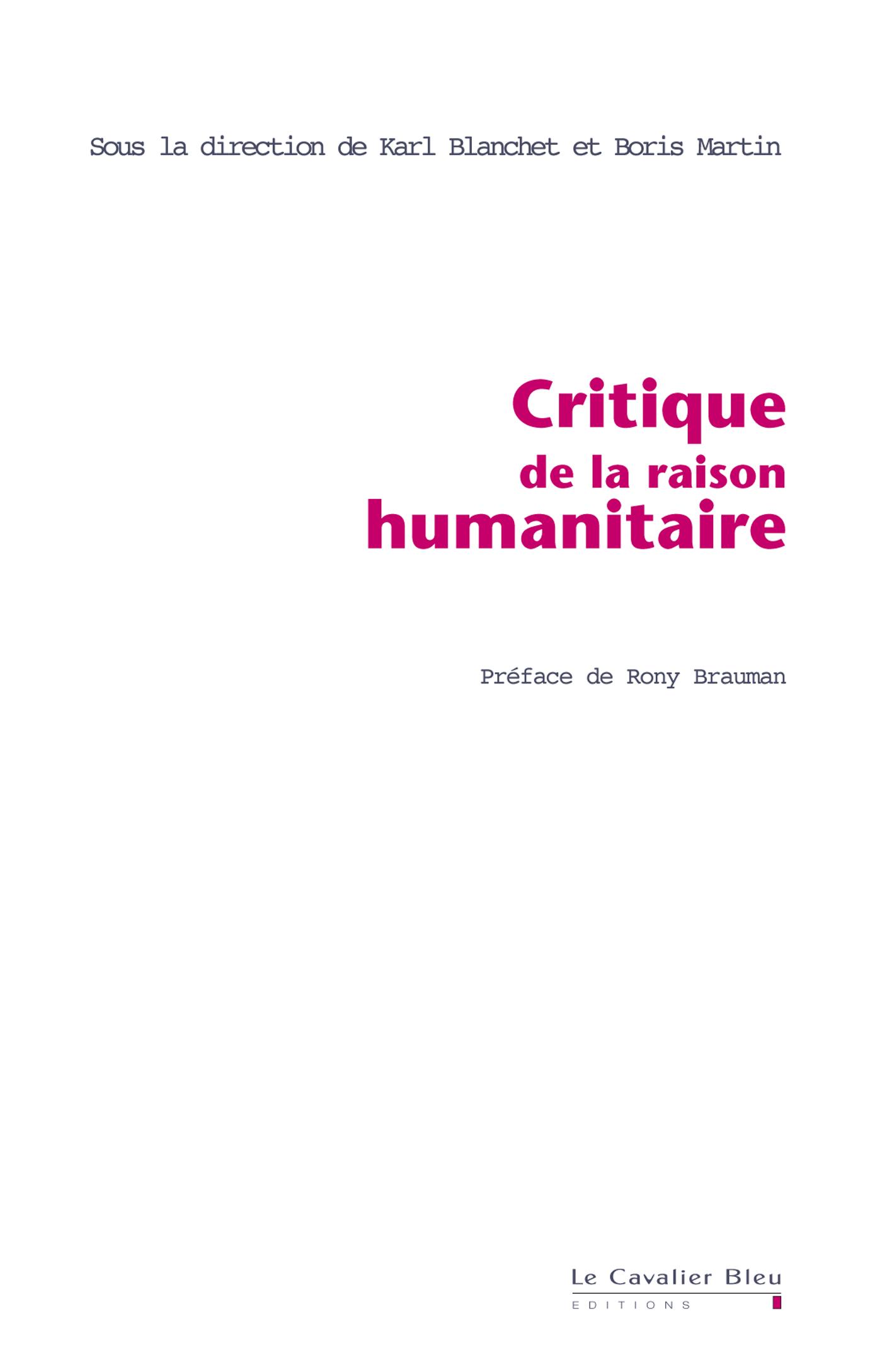 Critique de la Raison Human...